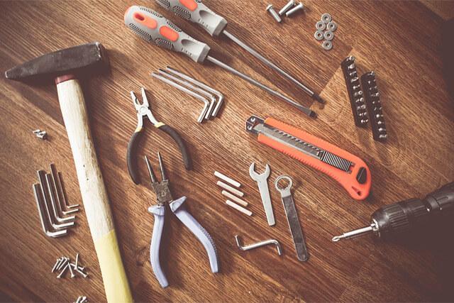 数種類の工具