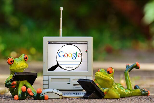 Googleとカエル